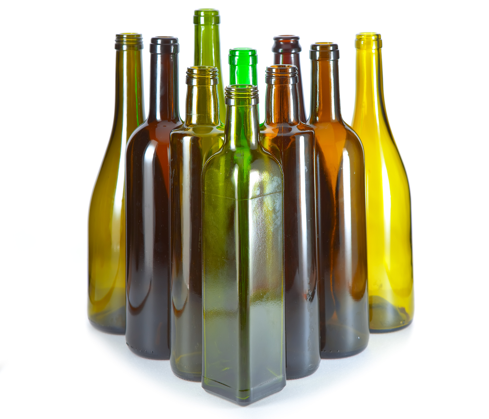 Variety of wine Bottles